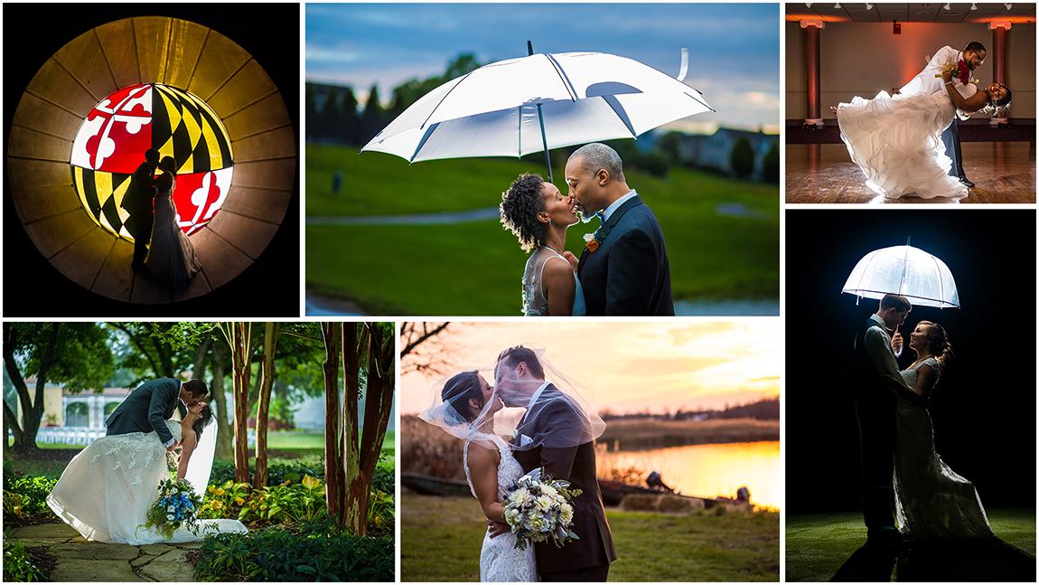 Maryland Wedding Photographers. Dramatic romantic wedding photos.