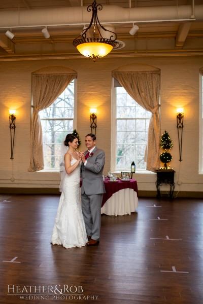 Brittany& Trey Wedding Savage Mill-180