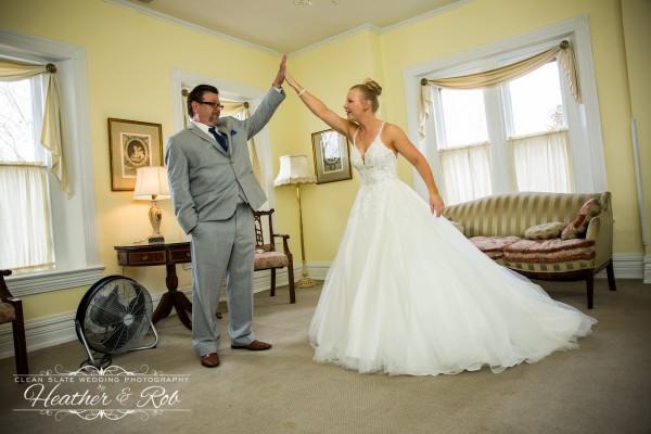 Jessica & Nick Ceresvile Mansion Wedding-136