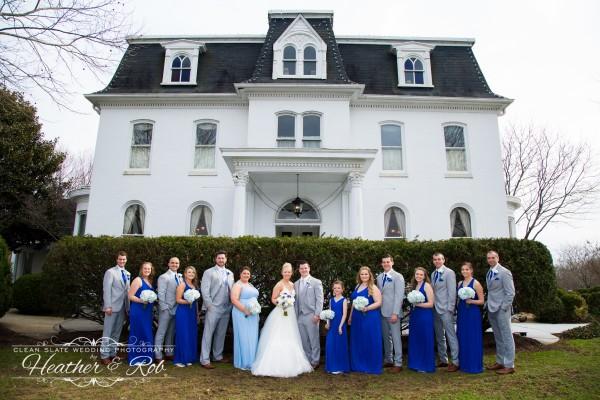 Jessica & Nick Ceresvile Mansion Wedding-169